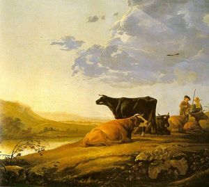 Aelbert Jacobsz Cuyp - Young Herdsman with Cows