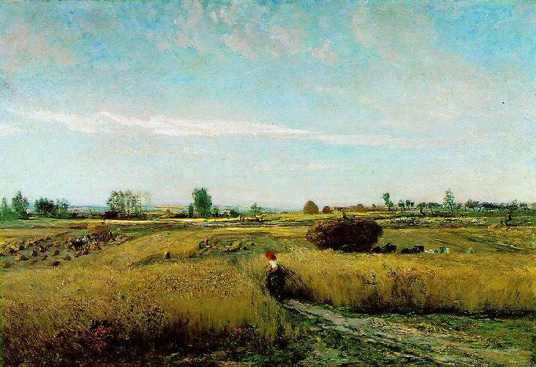 famous painting Harvest of Charles François Daubigny