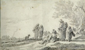 Jan Van Goyen - Landscape with Figures