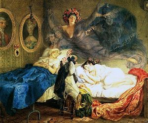 Karl Pavlovich Bryullov - Painting Bryullova Dream grandmothers and granddaughters