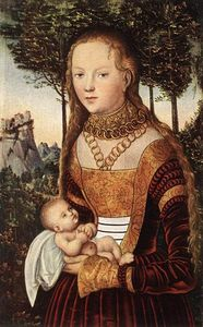 Lucas Cranach The Elder - Young Mother with Child