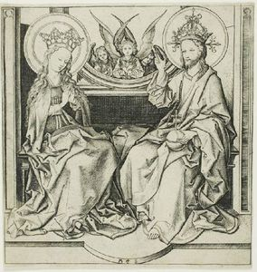 Martin Schongauer - Chirst blessing the virgin