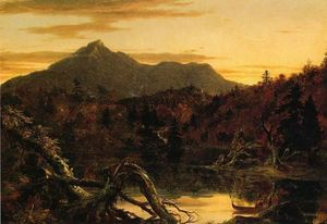 Thomas Cole - Autumn Twilight, View of Corway Peak