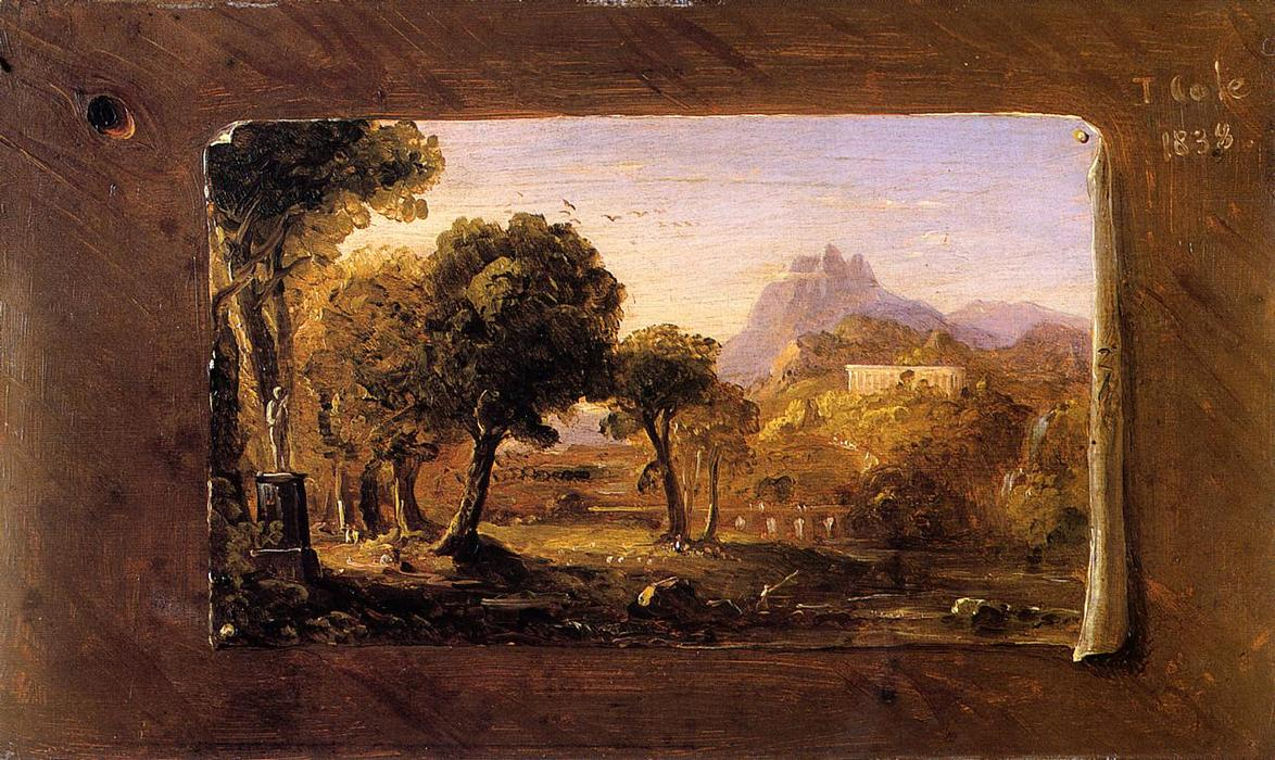 famous painting Study for Dream of Arcadia of Thomas Cole