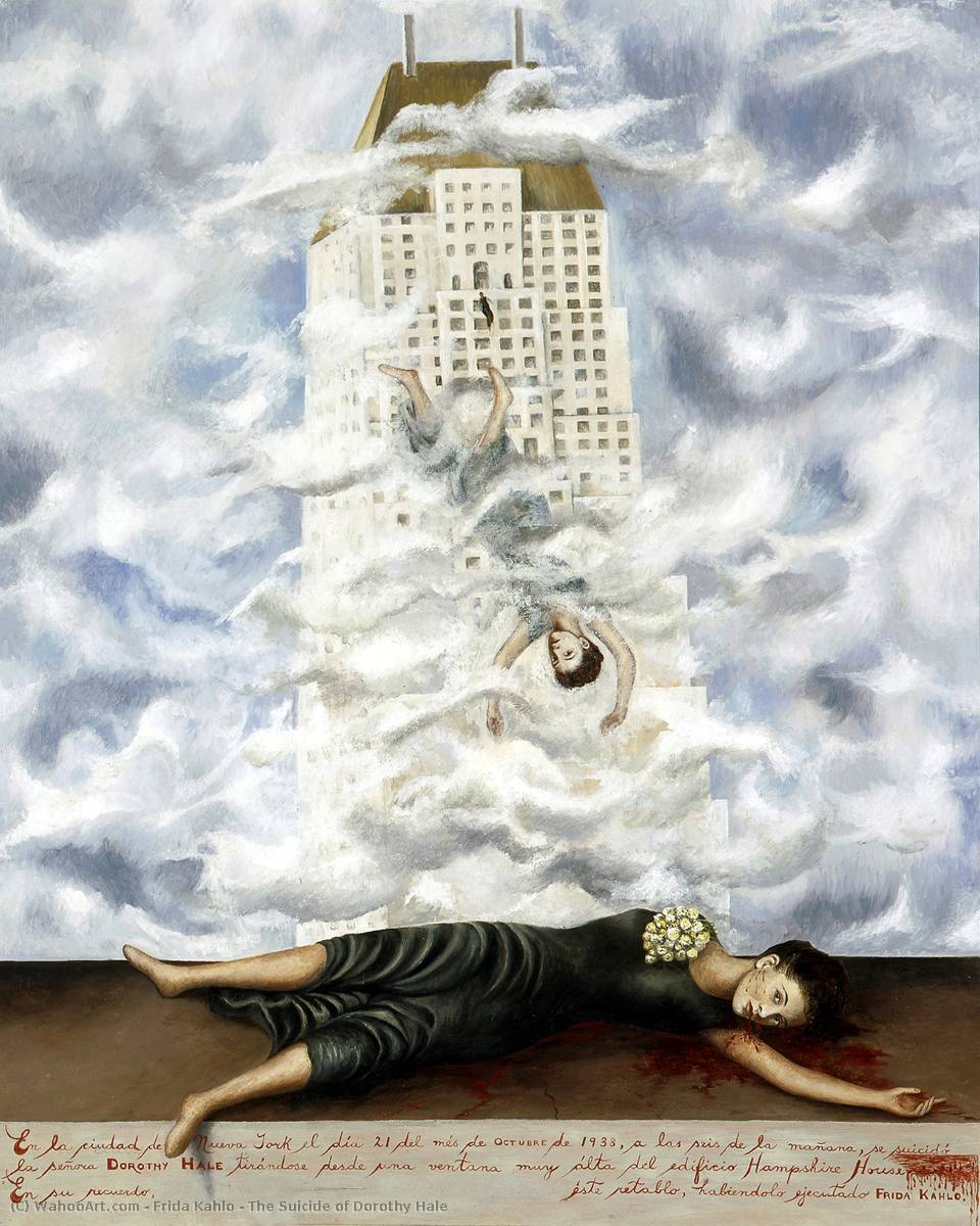 famous painting The Suicide of Dorothy Hale of Frida Kahlo