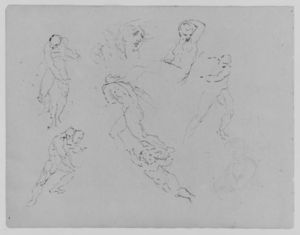 Thomas Sully - Seven Figure Studies; Portrait of a Woman