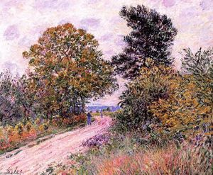Alfred Sisley - Edge of the Fountainbleau Forest Morning