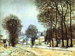 Alfred Sisley - Snow at Louveciennes