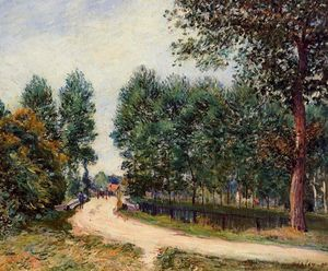 Alfred Sisley - The Path from Saint Mammes, Morning