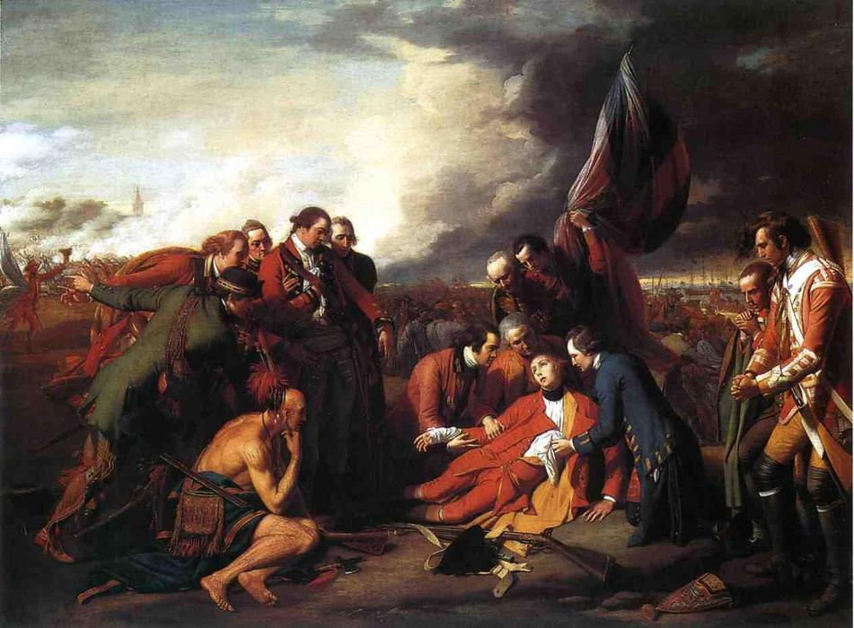 famous painting The Death of General Wolfe of Benjamin West