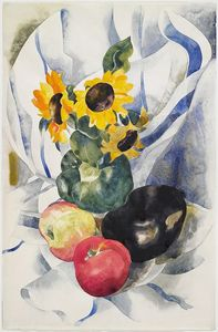 Charles Demuth - Fruit and Sunflowers
