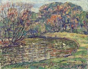 Ernest Lawson - Autumn Pond