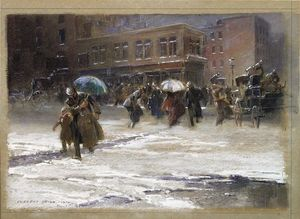 Everett Shinn - Before The Flatiron Building Was Built,