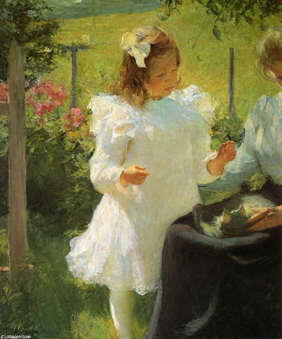 famous painting Sunlight of Frank Weston Benson