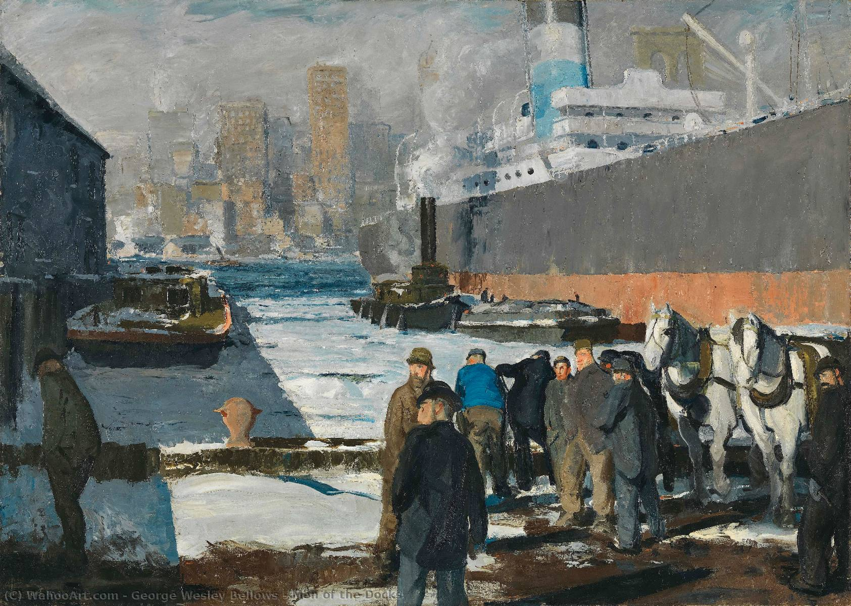 famous painting Men of the Docks of George Wesley Bellows