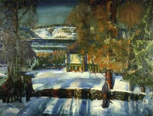 George Wesley Bellows - Winter Road