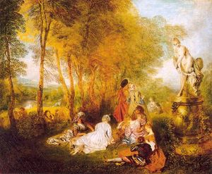 Jean Antoine Watteau - The Pleasures of Love