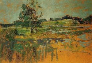 John Henry Twachtman - The Ledges
