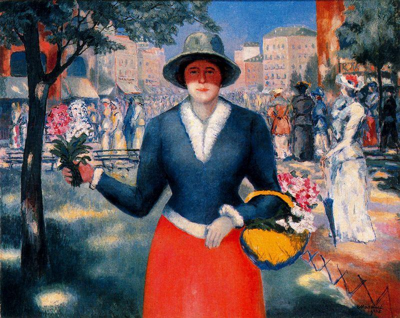 famous painting Flower Girl of Kazimir Severinovich Malevich