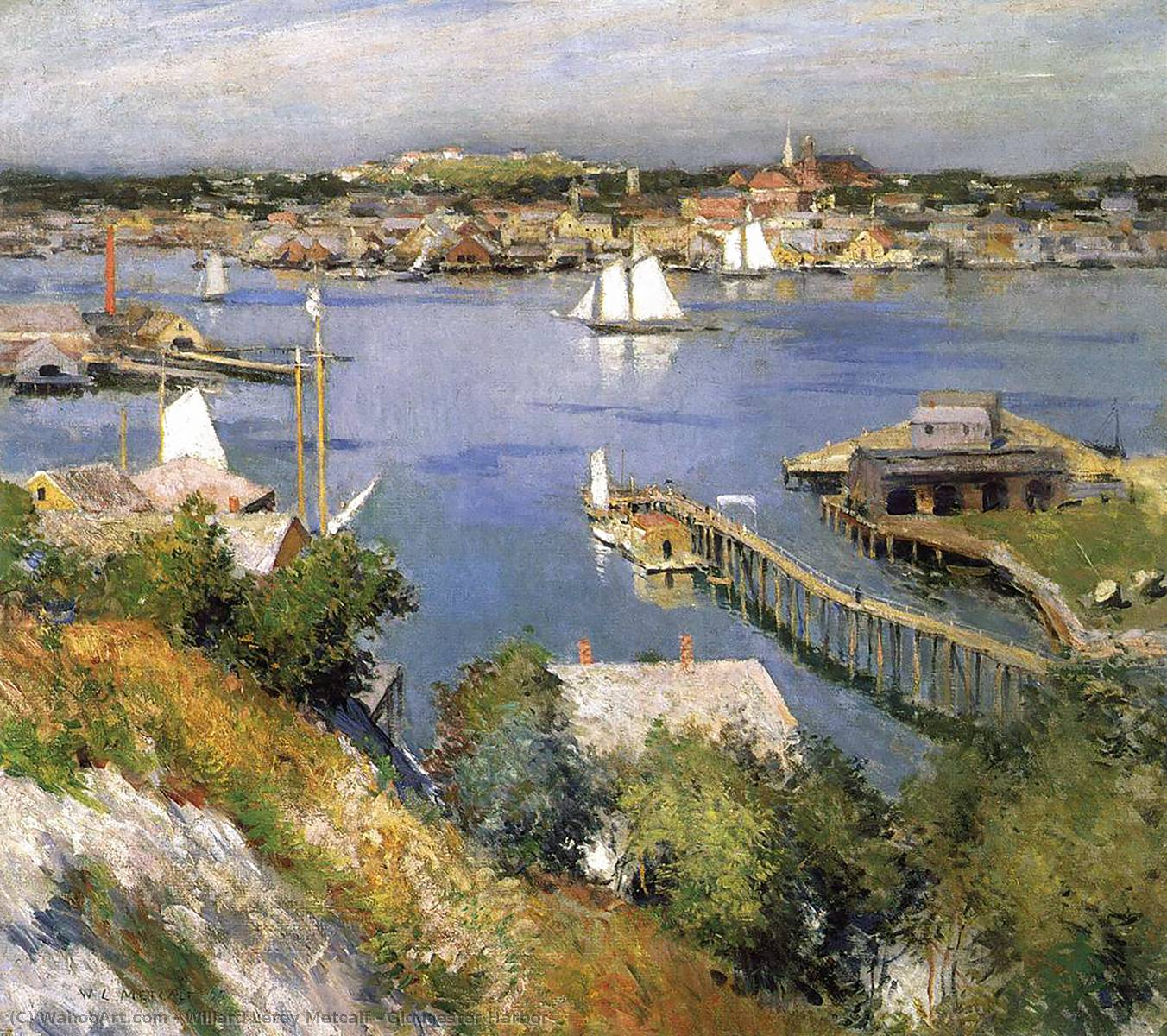 famous painting Gloucester Harbor of Willard Leroy Metcalf