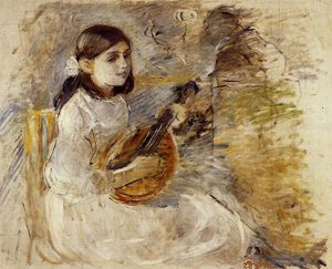 Berthe Morisot - Girl Playing the Mandolin