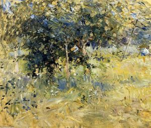 Berthe Morisot - Willows in the Garden at Bougival