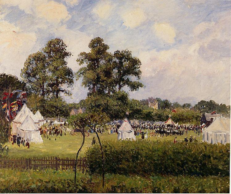famous painting Jubilie Celebration at Bedford Park, London of Camille Pissarro