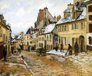 Camille Pissarro - Pontoise, the Road to Gisors in Winter