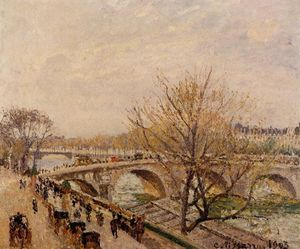 Camille Pissarro - The Seine at Paris, Pont Royal