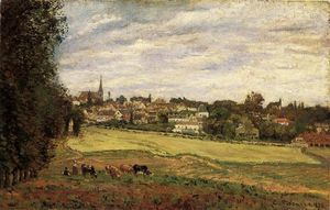 Camille Pissarro - View of Marly le Roi