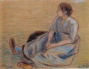 Camille Pissarro - Woman Sitting on the Floor