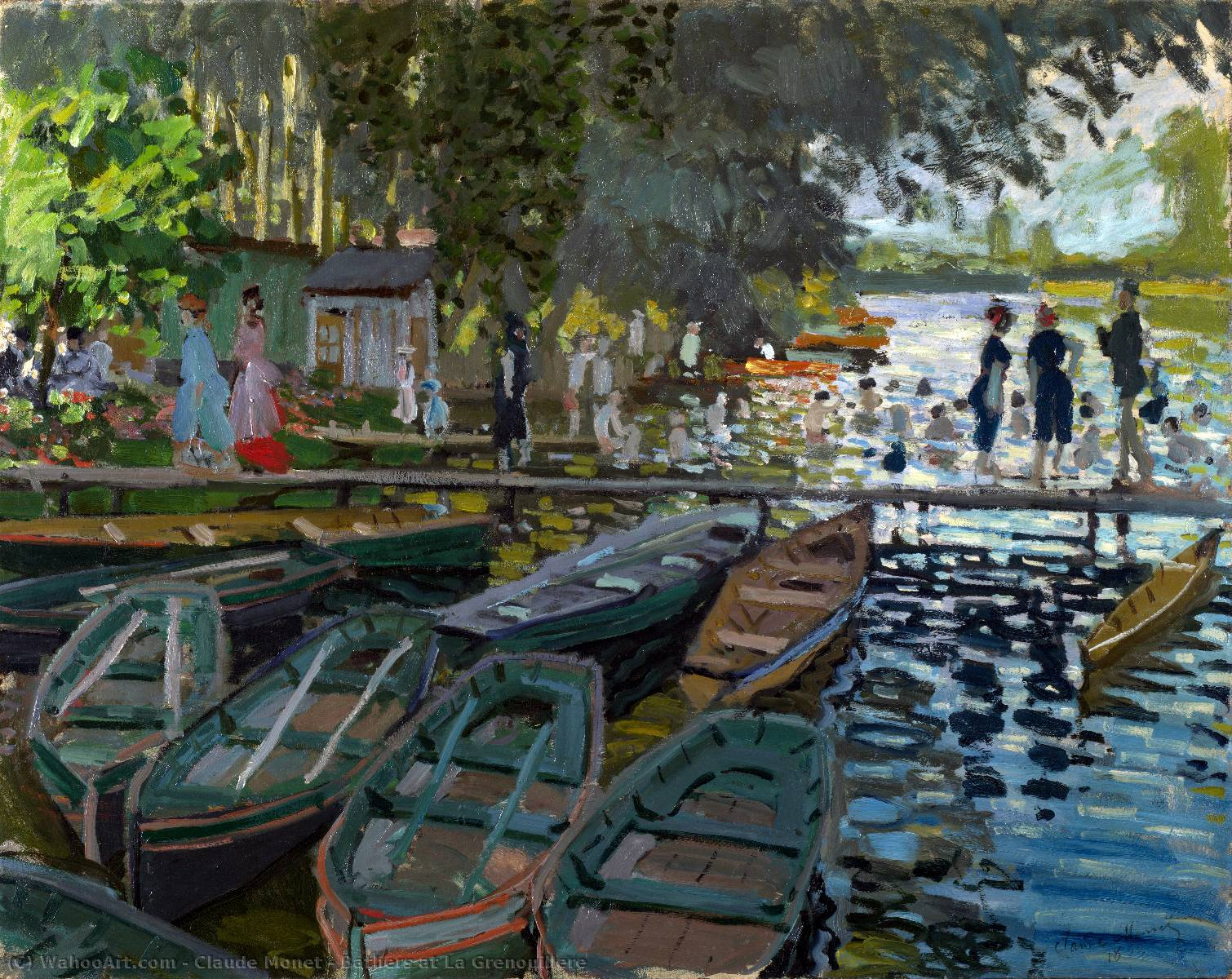 Order Art Reproductions | Bathers at La Grenouillere by Claude Monet | AllPaintingsStore.com