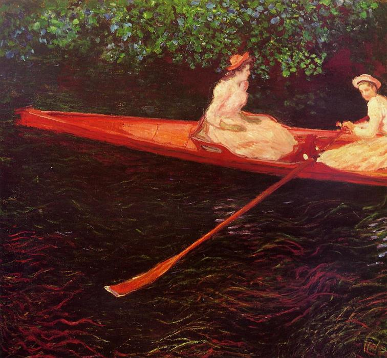 Order Paintings Reproductions | Boating on the River Epte by Claude Monet | AllPaintingsStore.com