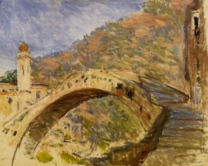 Claude Monet - Bridge at Dolceacqua