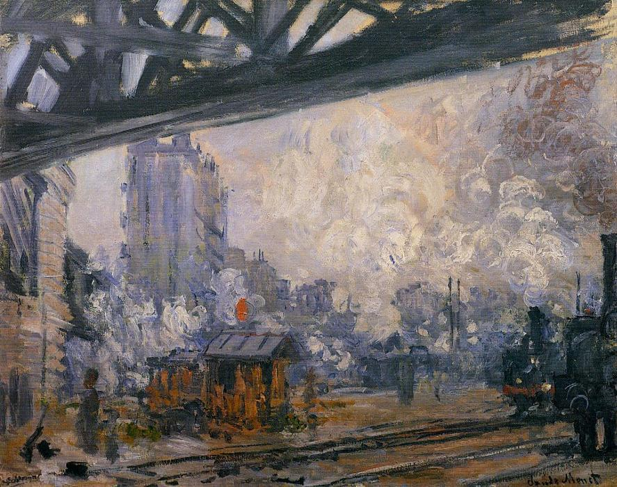 famous painting Exterior View of the Saint-Lazare Station of Claude Monet