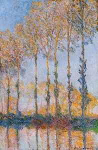 Claude Monet - Poplars, White and Yellow Effect