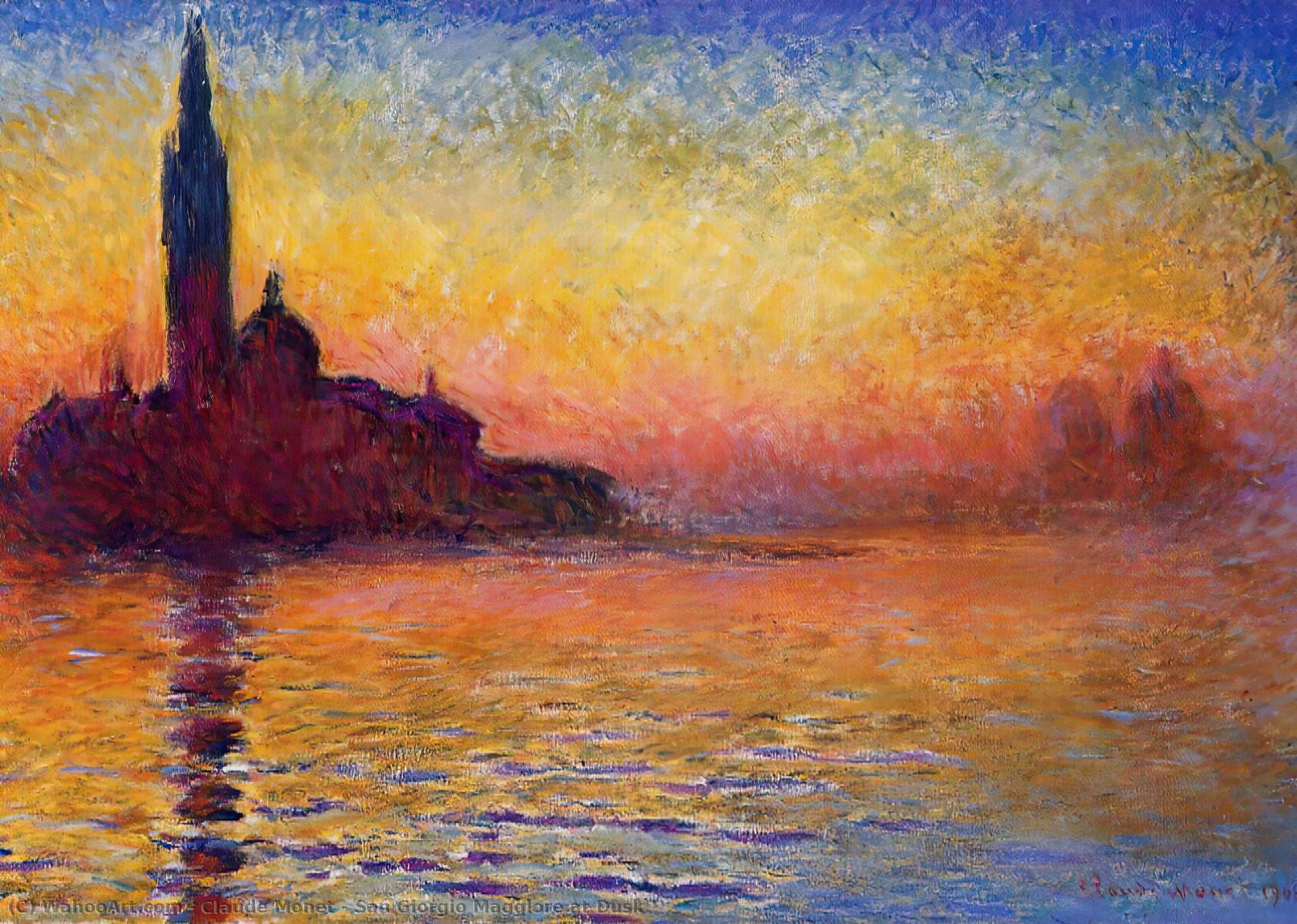 famous painting San Giorgio Maggiore at Dusk of Claude Monet