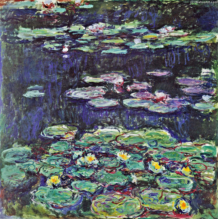 Order Museum Quality Copies | Water Lilies (43) by Claude Monet | AllPaintingsStore.com