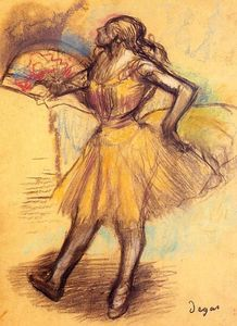 Edgar Degas - Dancer with a Fan (study)