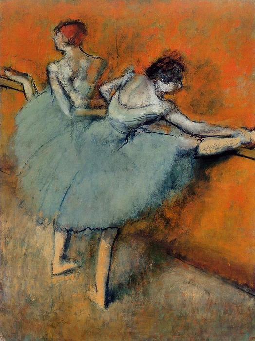 famous painting Dancers at the Barre 1 of Edgar Degas
