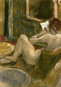 Edgar Degas - Nude from the Rear, Reading
