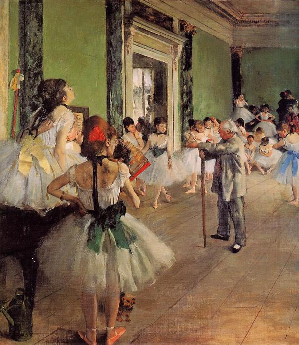 famous painting The Dance Class of Edgar Degas