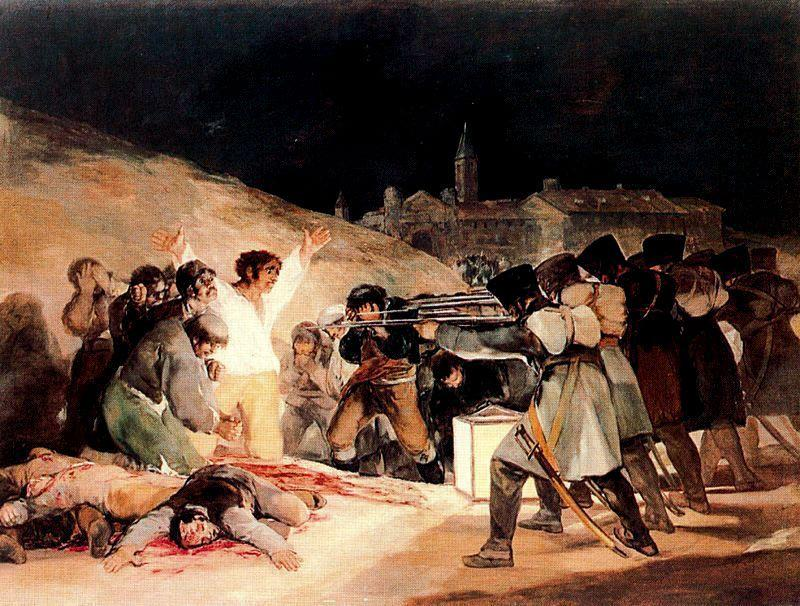 famous painting 3rd May 1808 in Madrid of Francisco De Goya