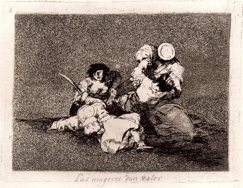 Order Art Reproductions | Las mugeres dan valor by Francisco De Goya | AllPaintingsStore.com