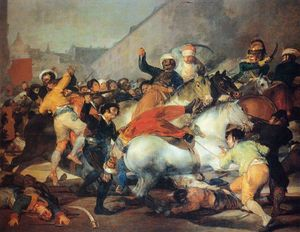 Francisco De Goya - The fight with the mamluks