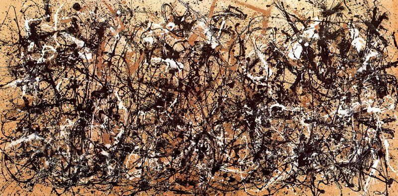 famous painting Autumn Rhythm. Number 30, 1950 of Jackson Pollock