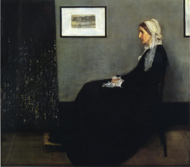 famous painting Arrangement in Grey and Black. Portrait of the Painter's Mother of James Abbott Mcneill Whistler