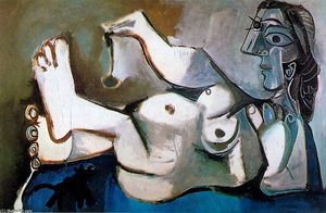 Pablo Picasso - Naked woman playing with a cat 1