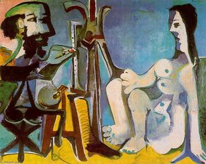 Pablo Picasso - The painter and his model 7