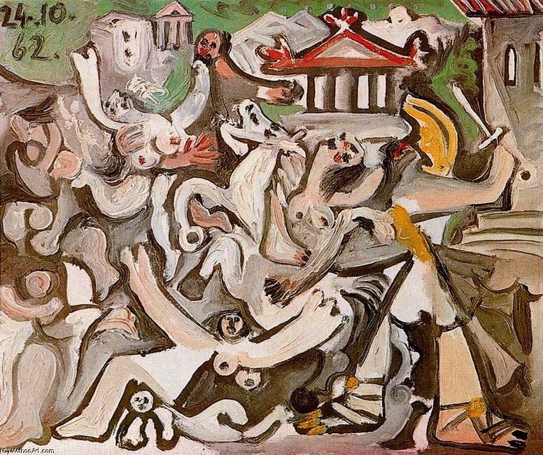 famous painting The Rape of the Sabine Women 2 of Pablo Picasso